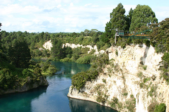 Taupo bungy and the Waikato river