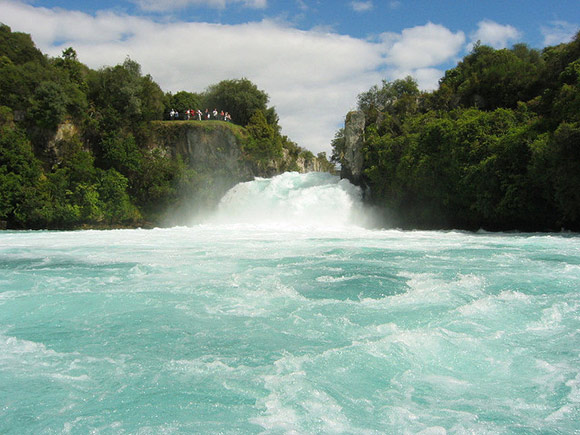 Huka falls and viewing lookout