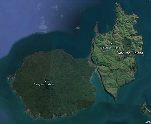 Rangitoto and Motutapo Islands, New Zealand